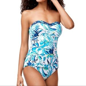 Tommy Bahama Tropical Swirl One Piece Swimsuit NEW